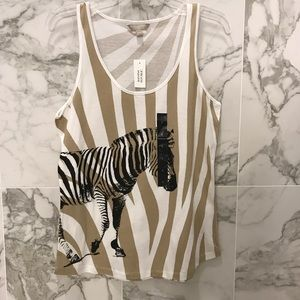 Banana Republic Zebra Tank - NWT - Small